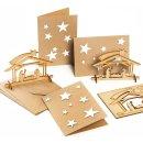 3 Weihnachtsgrußkarten mit Sternen +...