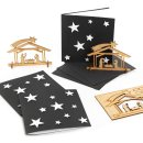 3 Weihnachtskarten schwarz weiß mit Umschlag +...