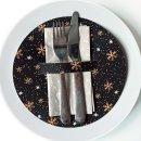 10 weihnachtliche Tischsets schwarz gold - Tellerdeckchen...