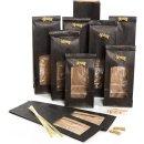 10 Papiertüten mit Sichtfenster schwarz gold mit...