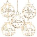 5 weihnachtliche Geschenkanhänger mit Text Frohe...
